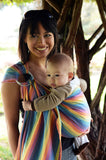 Lenny Lamb Sunrise Rainbow Bamboo Ring Sling