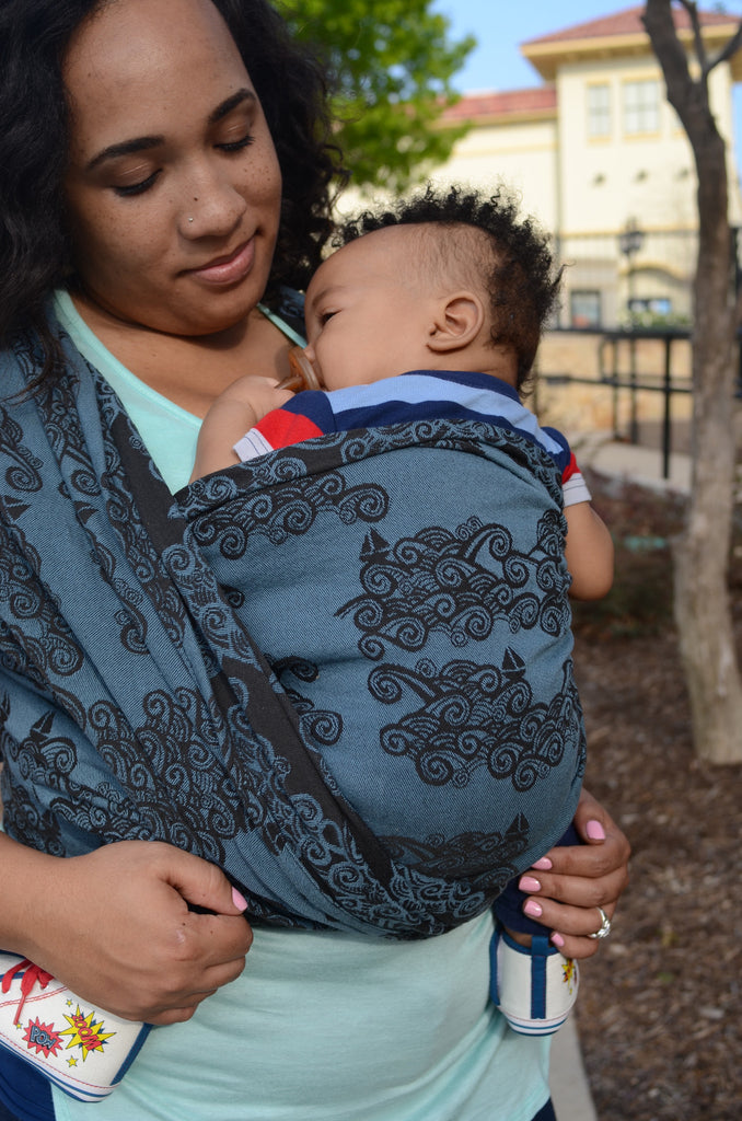 Smitten With wovens Sail Away With Me - Atlantic baby Wrap cotton