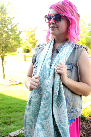 Smitten with wovens Chantilly - Marie Scarf