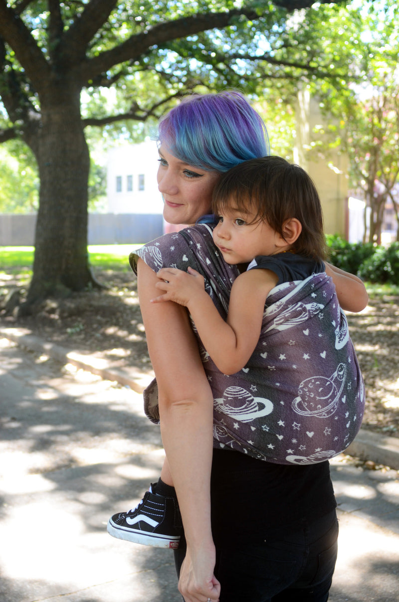 Smitten with Wovens Phoebe - Dione baby wrap carrier made in the US america