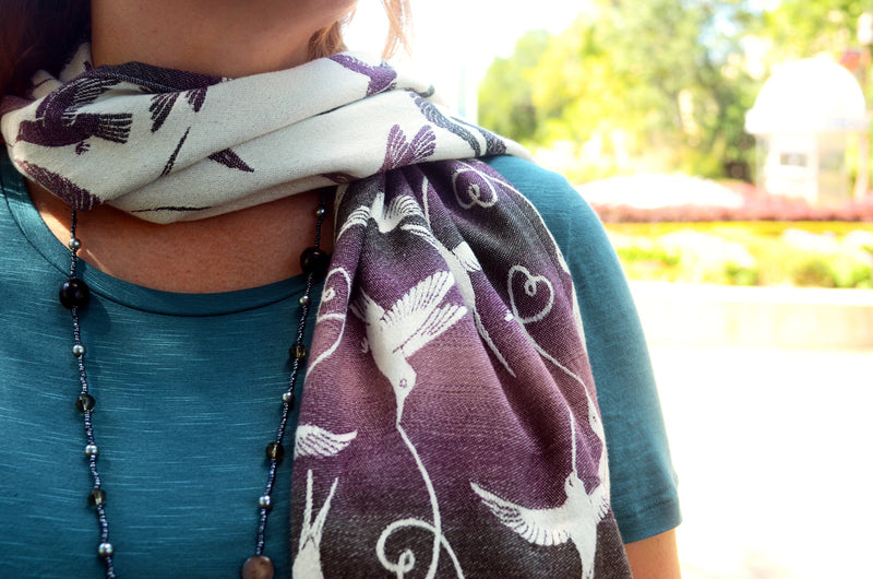 Smitten with Wovens  Nimh - Brisby Scarf Made in America
