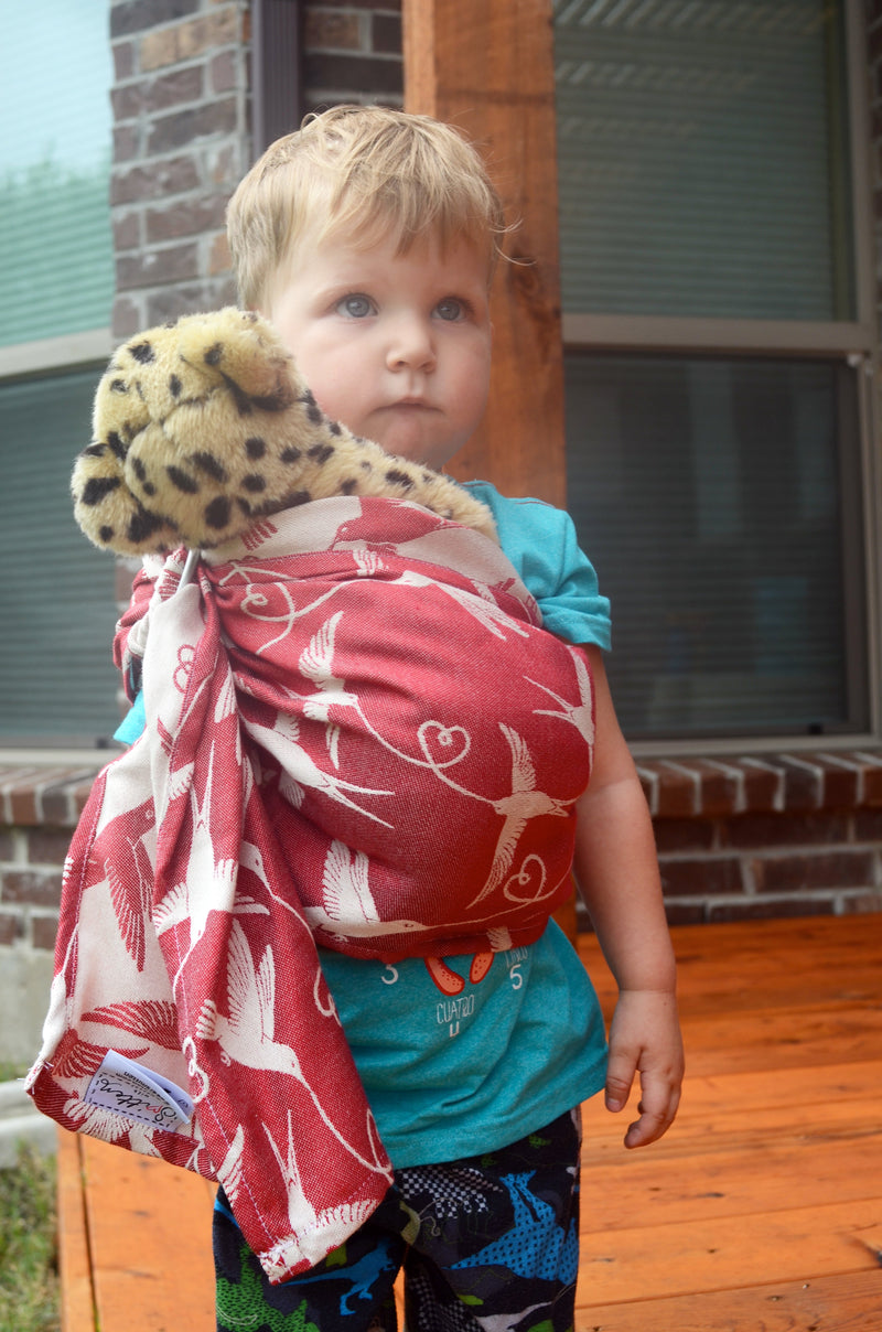 SMITTEN with wovens Nimh Jenner Lovey Sling doll sling, toy carrier
