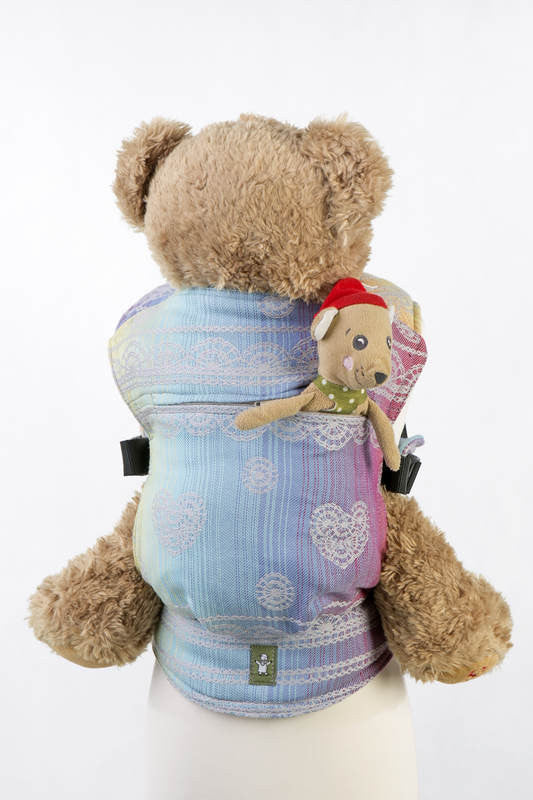 Lenny Lamb Doll Carrier Rainbow Lace Silver