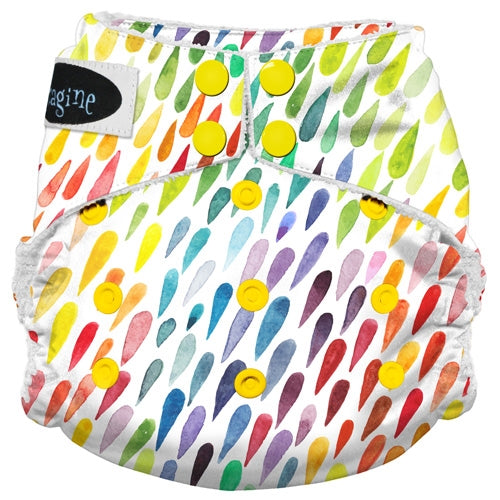 Imagine Stay-Dry All-in-One Cloth Diapers Rain Drops