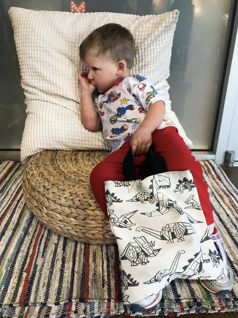 Smitten with Wovens Lisa Pangea Kids Tote REVERSE