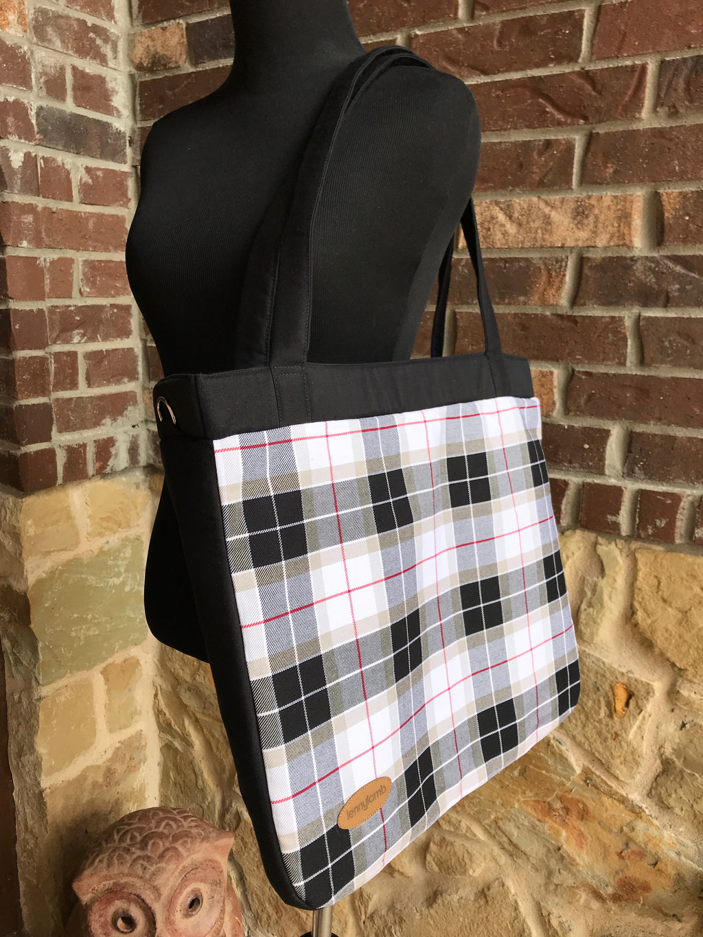Lenny Lamb Arcadia Plaid My World Handbag Diaper Bag