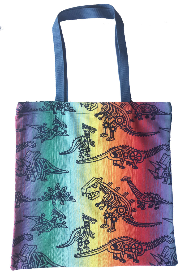 Smitten with Wovens Land Before Cogs - Pinion REVERSE Large Tote