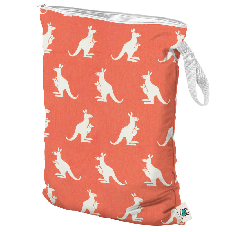 Planet Wise Wet Bags LARGE Coral Kangaroo
