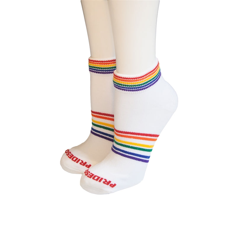 Pride Socks Athletic Shortie Unisex Socks - Mighty
