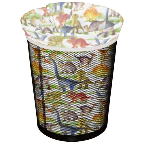 Planet Wise Reusable Trash Can Liners Dino Mite