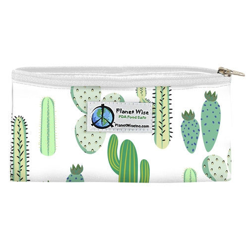Planetwise Zipper Snack Bags Pickly Cactus