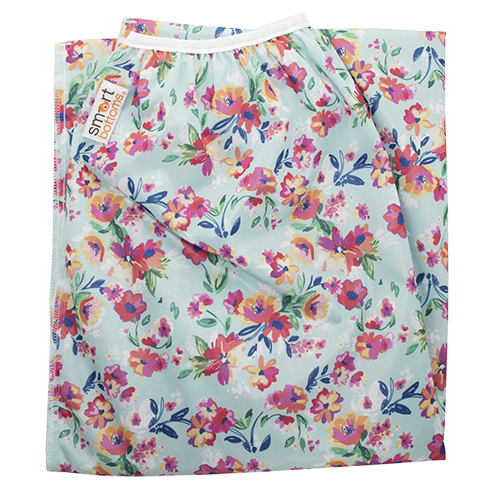 Smart Bottoms Pail Liner Wet Bags Aqua Floral