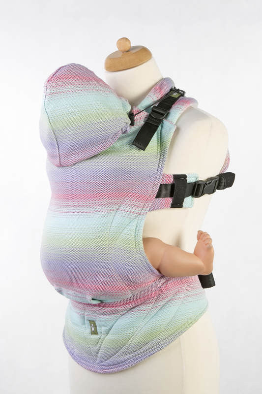 Lenny Lamb Ergonomic Full Buckle Carrier Little Herringbone-Impression (cotton)