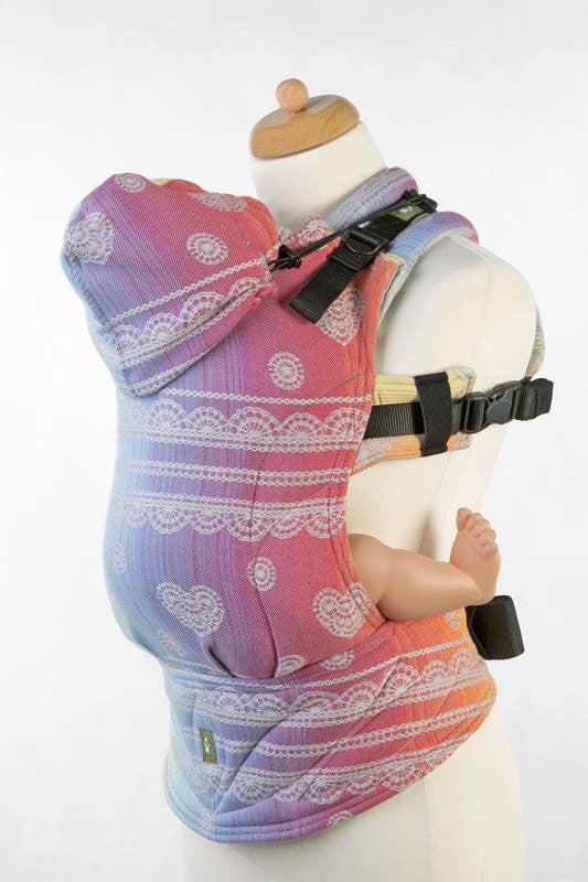 Lenny Lamb Ergonomic Full Buckle Carrier Rainbow Lace Silver (cotton)