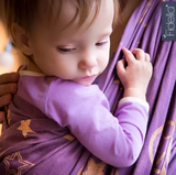 Fidella Outer Space Purple Wrap (organic cotton)