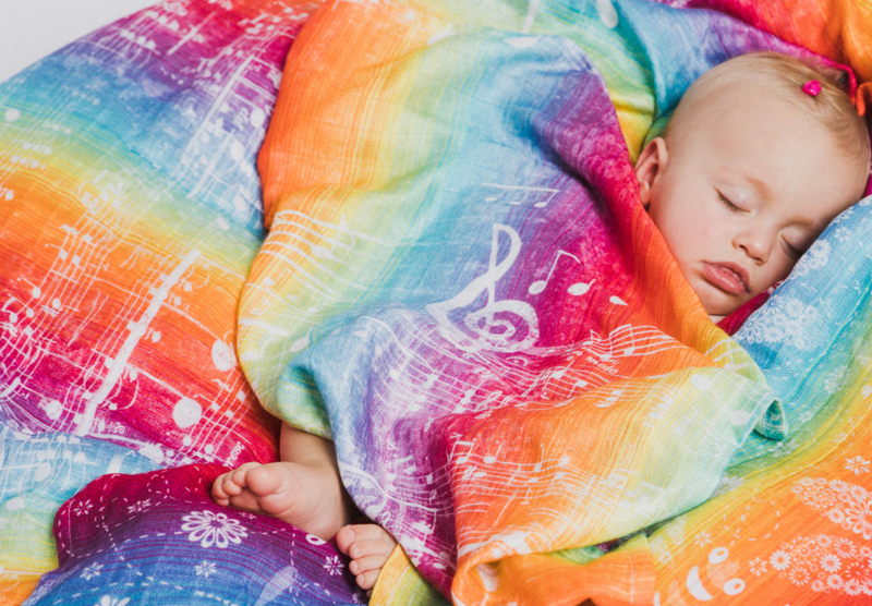 Lenny Lamb Symphony Rainbow Light Swaddle Wrap