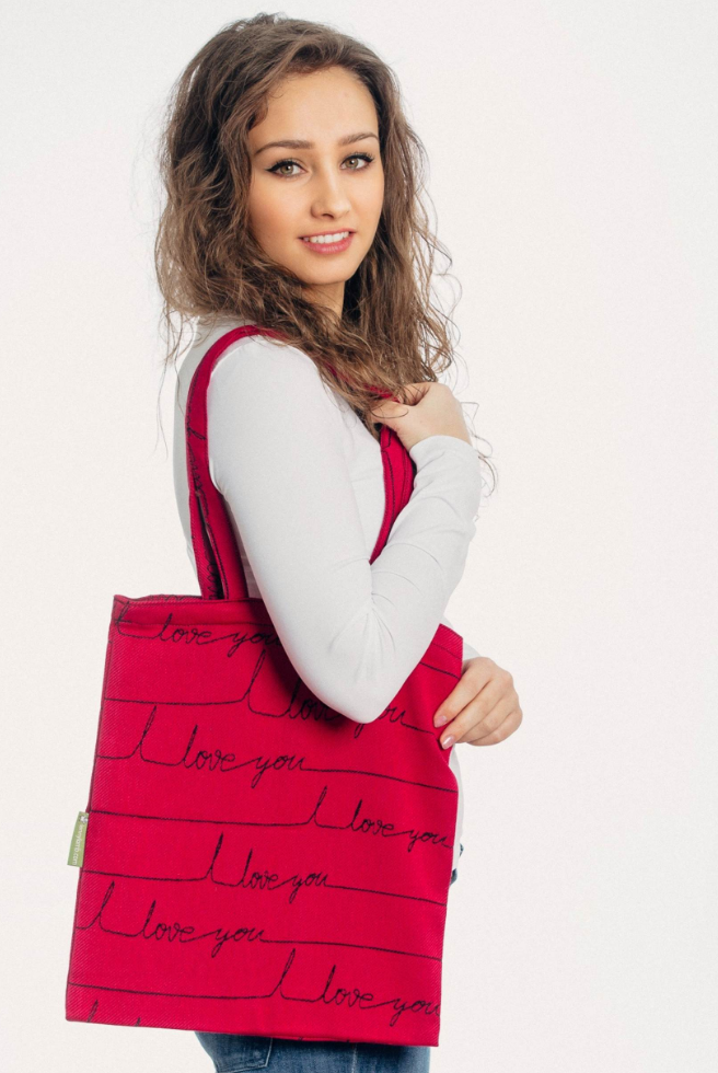 Lenny Lamb I Love You Shopping Bag