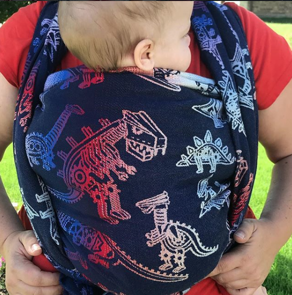 Smitten with Wovens Land Before Cogs - Bevel Woven Babywearing Wrap