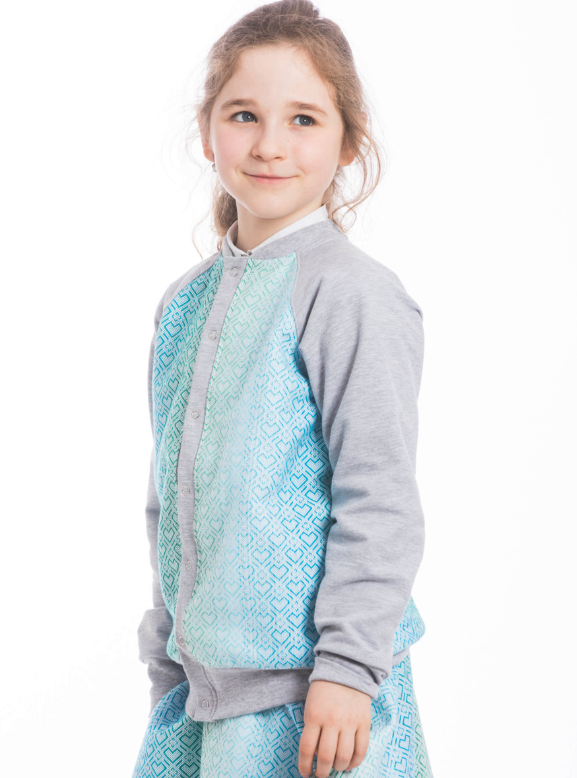 Lenny Lamb Childrens Bomber Jacket Big Love Mint