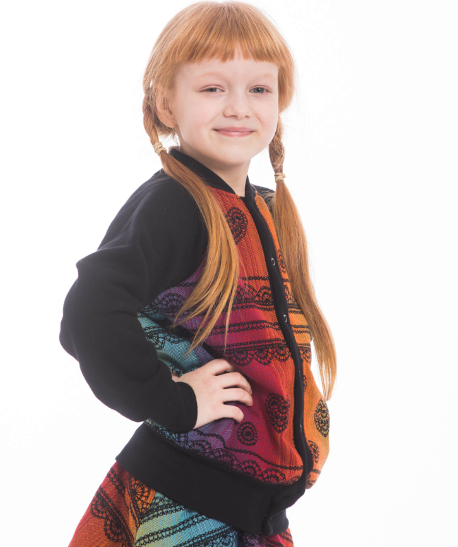 Lenny Lamb Childrens Bomber Rainbow Lace Dark LennyBomber