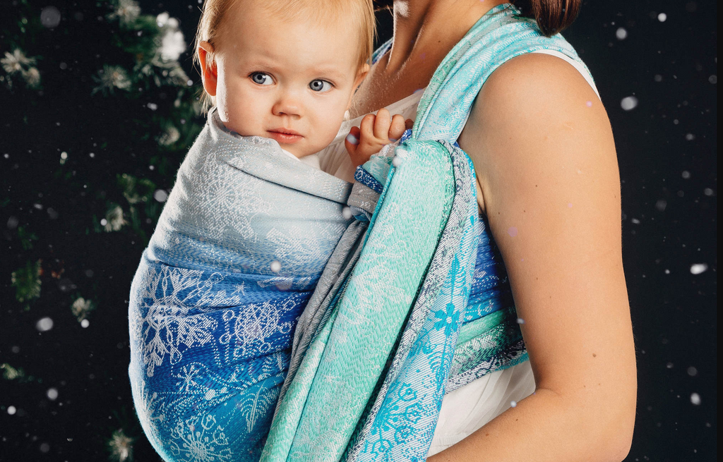 Lenny Lamb Snow Queen Magic Lake Babywearing Woven Wrap