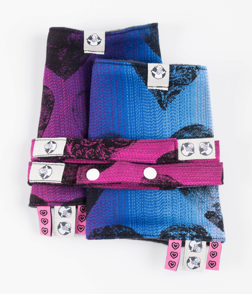 Lenny Lamb Lovka Pinky Violet Drool Pads and Reach Straps Set