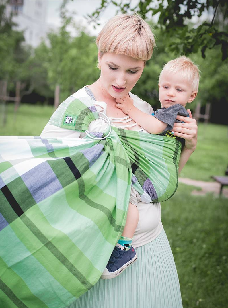 Luna Dreams Green Spring Grid Ring Sling