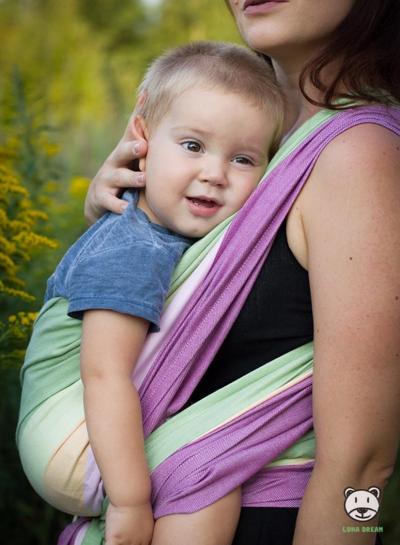 Luna Dream Summer Lime Woven Babywearing Wrap