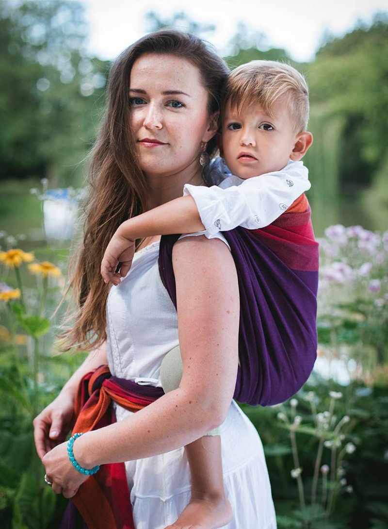 Luna Dream Purple Love Diamond Woven Babywearing Wrap