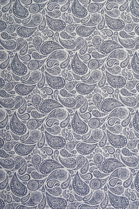 Lenny Lamb Paisley Navy Blue & Cream Wrap Tai (cotton)