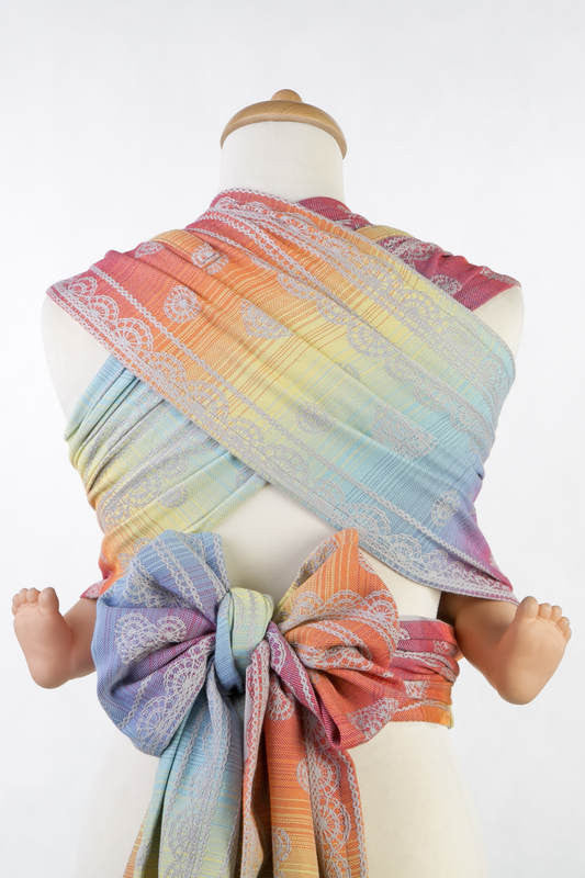 Lenny Lamb Rainbow Lace Silver Wrap Tai (cotton)