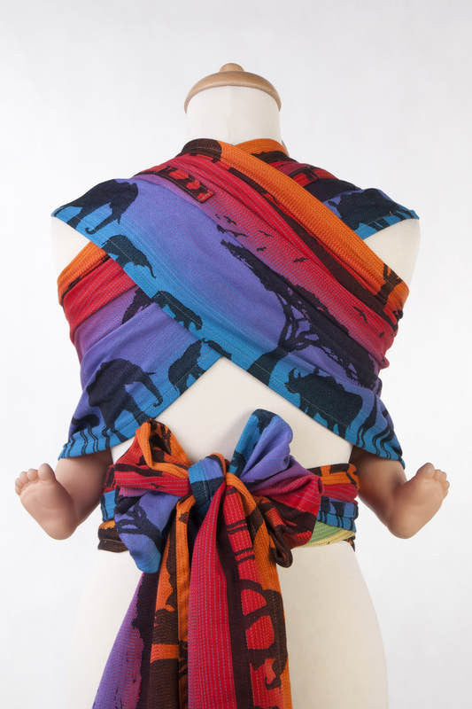 Lenny Lamb Rainbow Safari 2.0 Wrap Tai (Cotton)