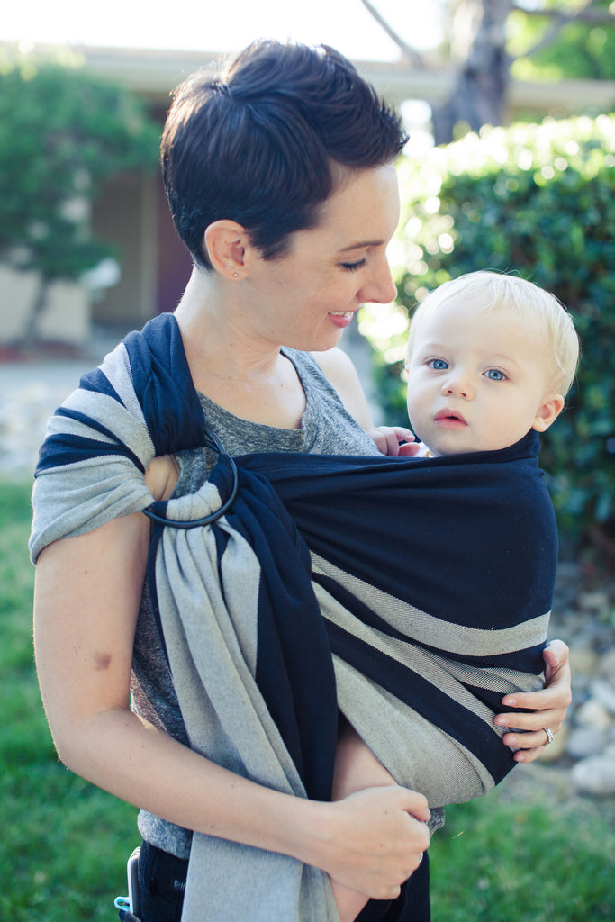 Smitten with Wovens Mod Stripes - Classic Ring Sling cotton