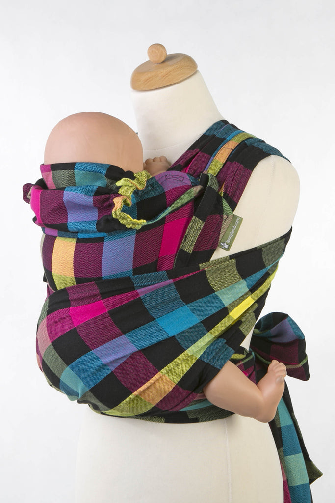Lenny Lamb Plaid Diamond Wrap Tai (cotton) Reversible
