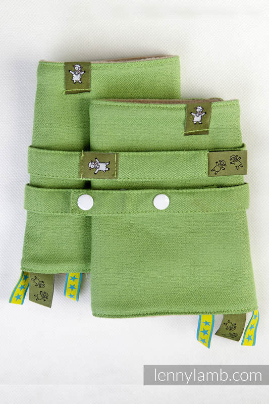 Lenny Lamb Drool Pads and Reach Straps Set Green Diamonds