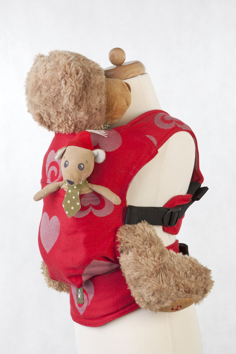 Lenny Lamb Doll Carrier Sweetheart Red and Gray
