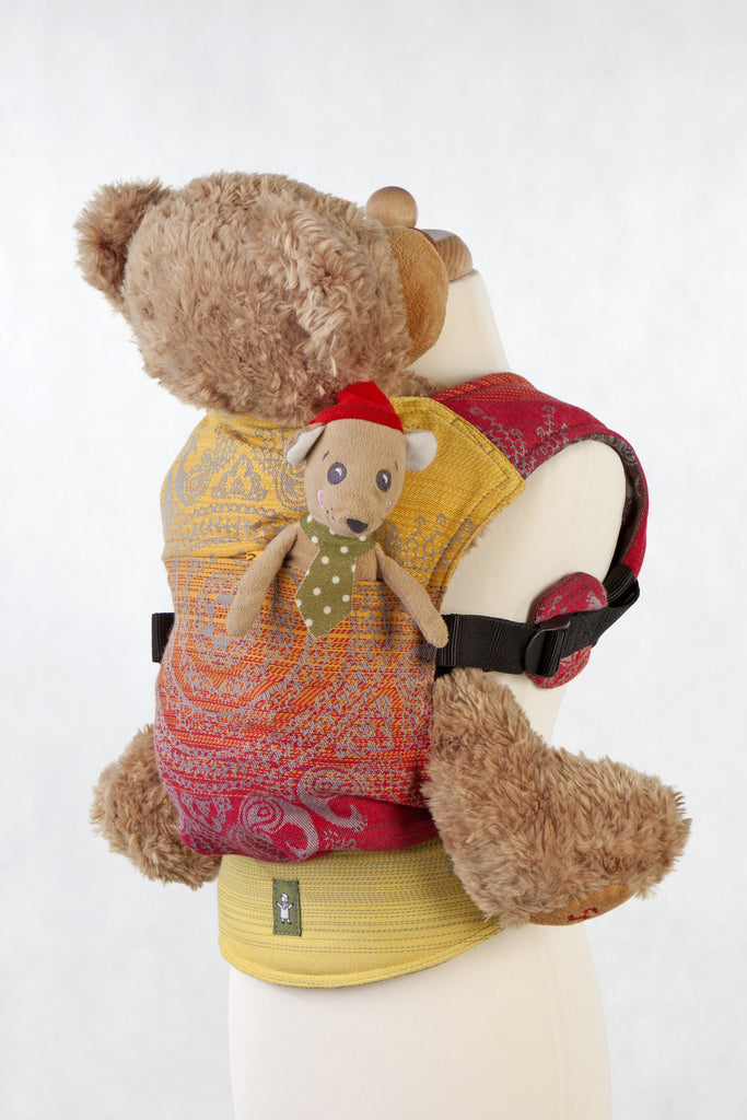 Lenny Lamb Doll Carrier Royal Indian Peacock