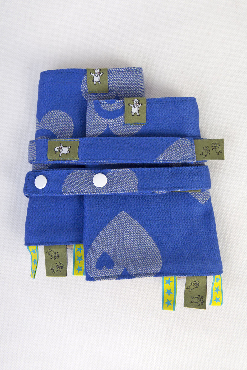 Lenny Lamb Drool Pads and Reach Straps Set Sweetheart Blue