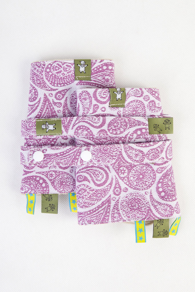Lenny Lamb Drool Pads and Reach Straps Set Paisley Purple