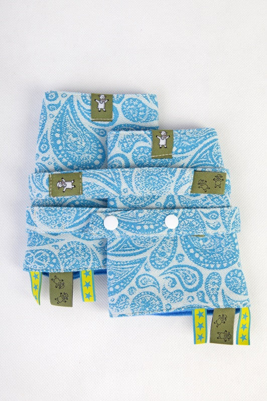 Lenny Lamb Drool Pads and Reach Straps Set Paisley Turquoise