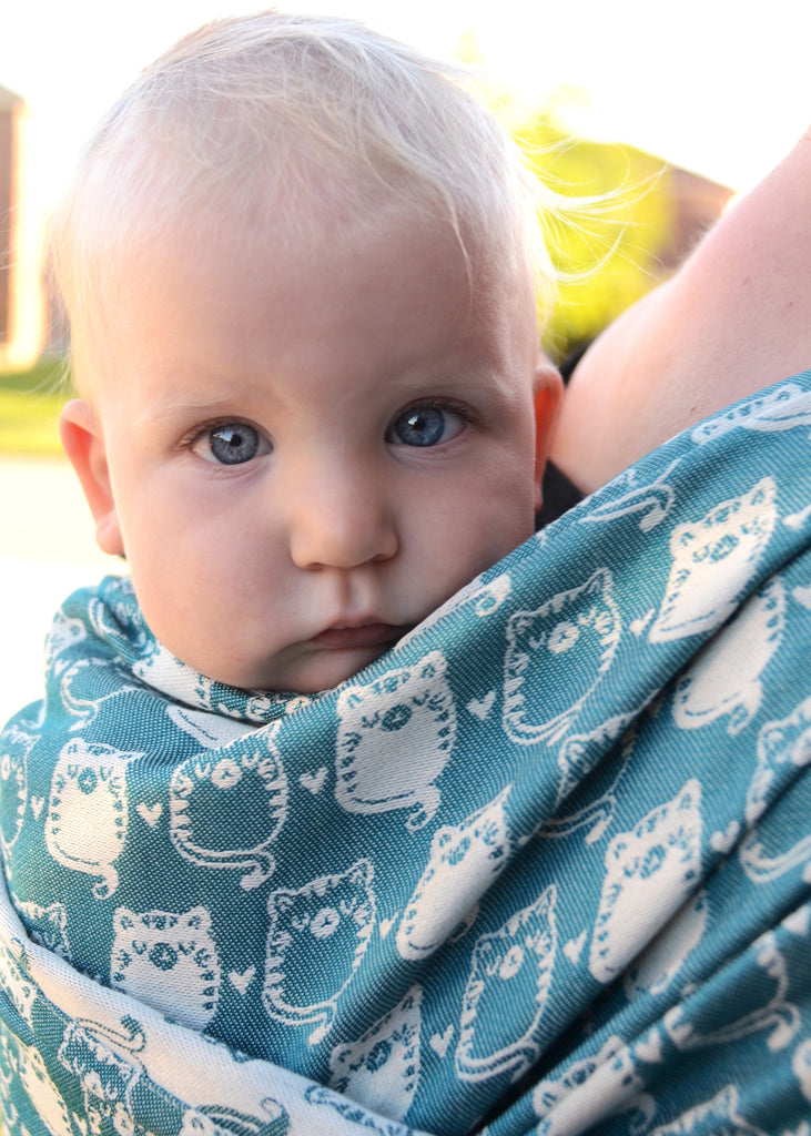 Smitten with Wovens Fatty Catty - Cura̤ao baby wrap