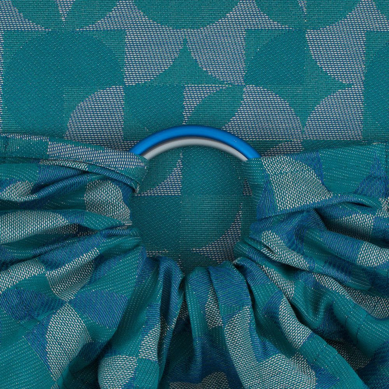 Fidella Kaleidoscope Ocean Teal Ring Sling (organic cotton)