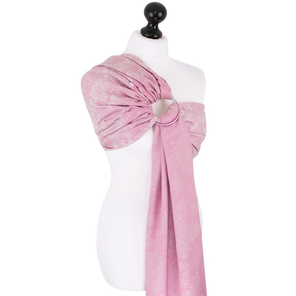 Fidella Iced Butterfly Sparkling Rose Ring Sling (organic cotton)