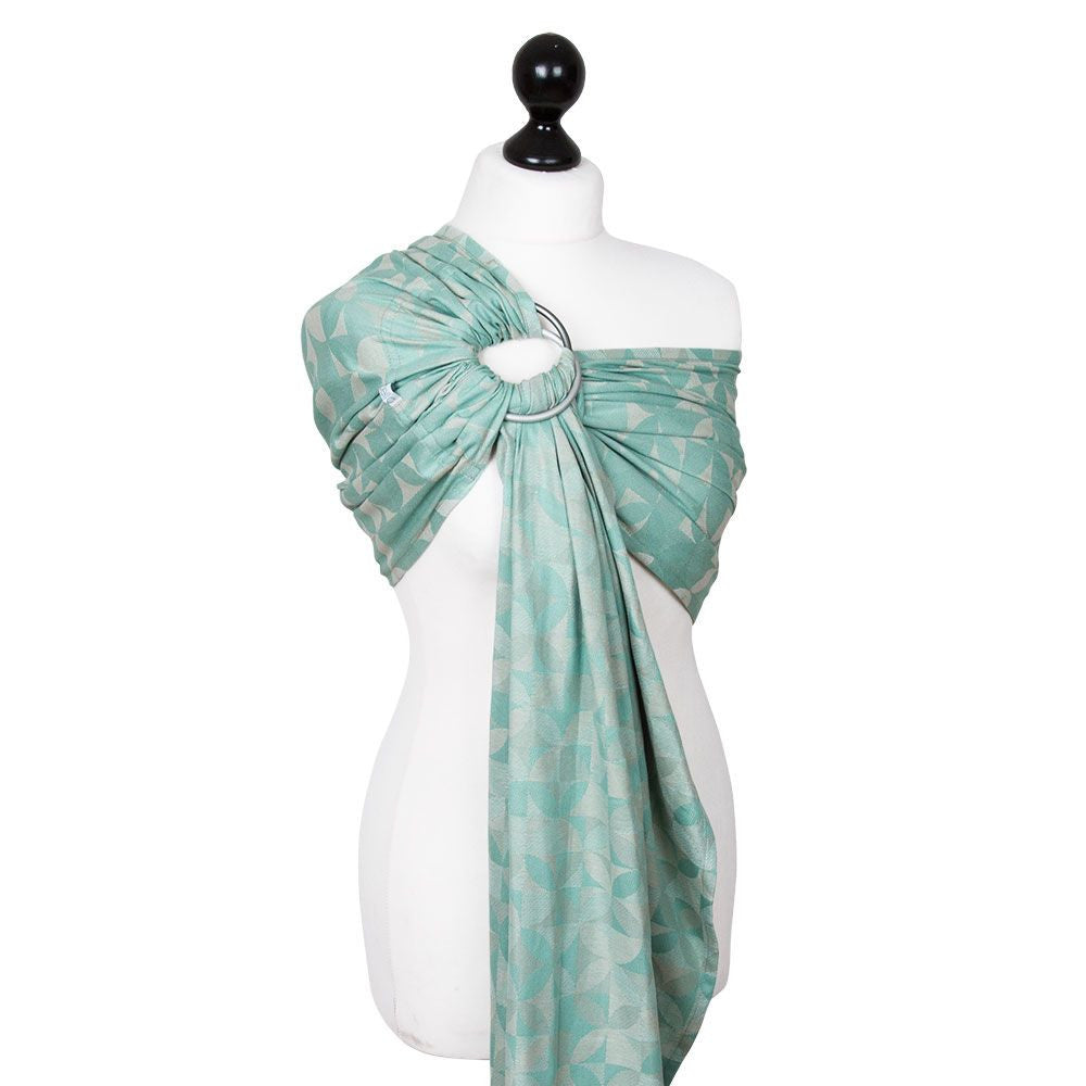 Fidella Kaleidoscope Mint Ring Sling (organic cotton)