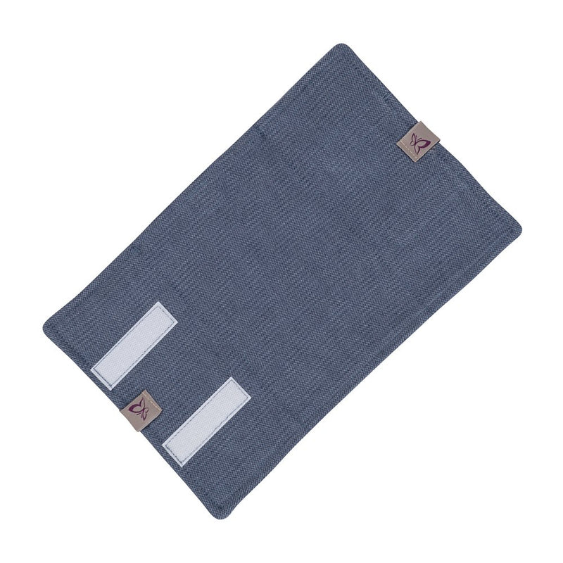 Fidella Chevron Denim Drool Pads (Set of 2)