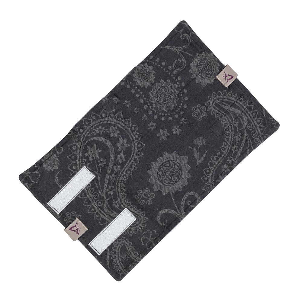 Fidella Paisley Black Drool Pads (Set of 2)