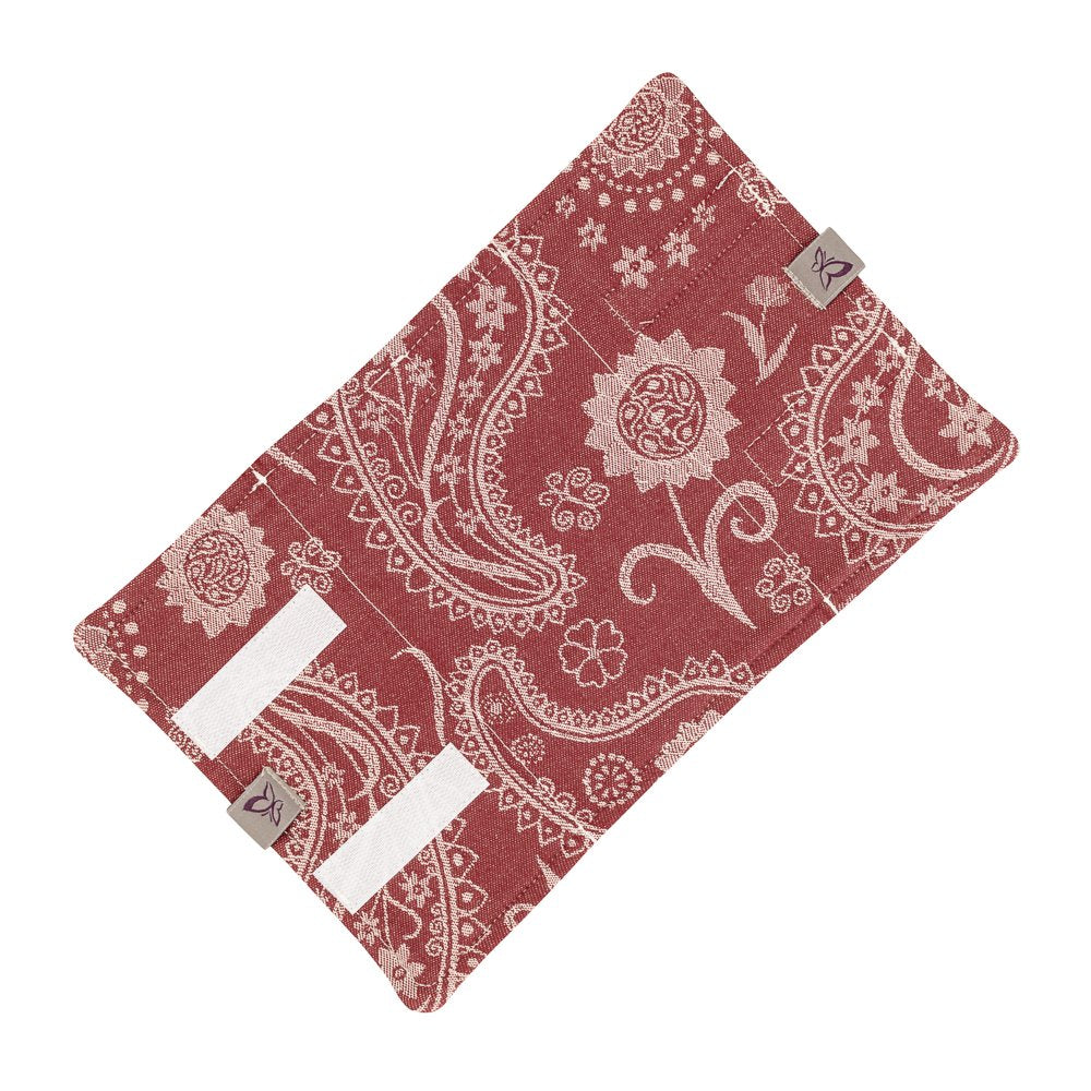 Fidella Paisley Red Drool Pads (Set of 2)