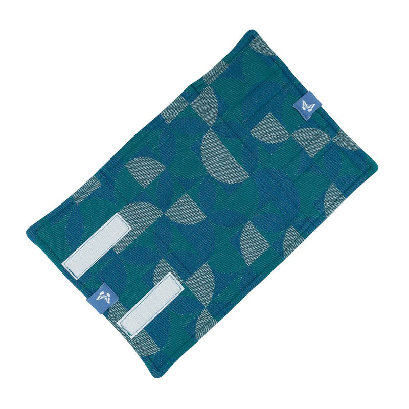 Fidella KALEIDOSCOPE - OCEAN TEAL Drool Pads (Set of 2)