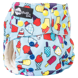 Funky Fluff LUX Bamboo 3 in 1 Cloth Diaper
