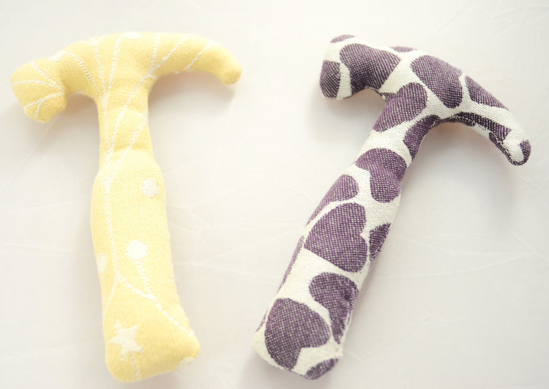 Wrap Scrap Hammer Smitten cotton toddler toy